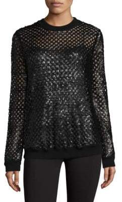 Tory Burch Lansing Sequin Wool Sweater