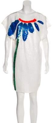 Tsumori Chisato Silk Sequined Dress