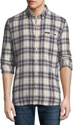 Joe's Jeans Seattle Plaid Button-Down Sport Shirt