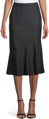 Elie Tahari Eavanna Flared Midi Skirt