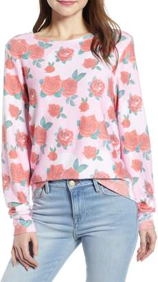 Wildfox Couture Baggy Beach Jumper - Roses Pullover