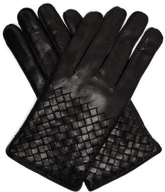 Bottega Veneta Intrecciato-woven leather gloves