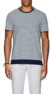Orlebar Brown Men's Sammy Striped Cotton-Linen T-Shirt - White