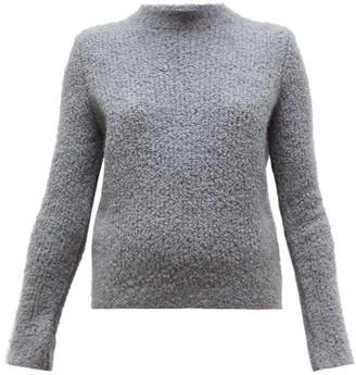 Gabriela Hearst Phillipe Cashmere Blend Boucle Round Neck Sweater - Womens - Dark Grey