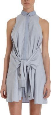 Antipodium Sleeveless Shirt Dress