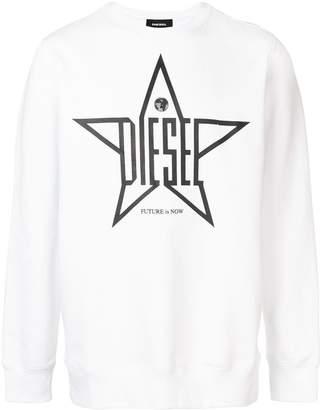 Diesel star print sweatshirt