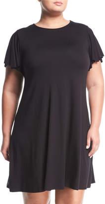 Three Dots Plus Easy Flounce Knit Dress, Plus Size