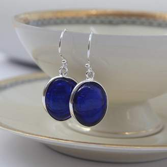 Murano Claudette Worters Glass Earrings In Blue Tones