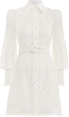 Zimmermann Heathers Belted Shirt Dress