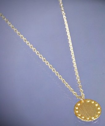Gorjana gold 'Bali Coin' pendant necklace