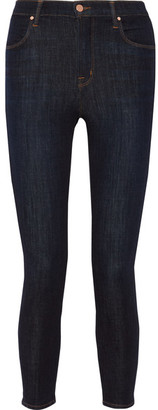 J Brand - Alana Cropped High-rise Skinny Jeans - Dark denim $230 thestylecure.com