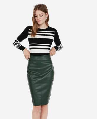 Express High Waisted Seamed (Minus The) Leather Pencil Skirt
