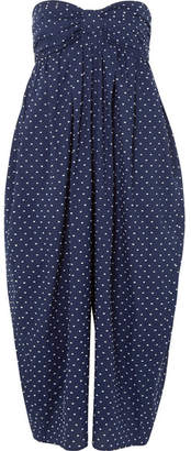 Marysia Swim Leo Corillo Embroidered Cotton-voile Jumpsuit - Navy