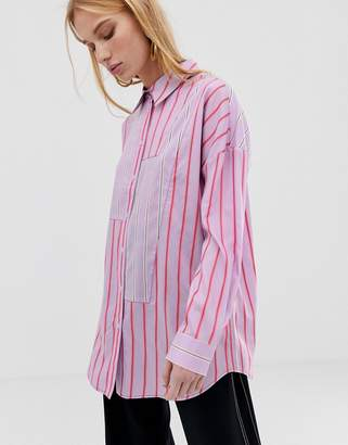 Asos oversized stripe shirt