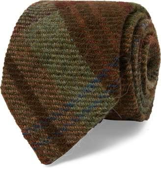 Ralph Lauren Plaid Wool Narrow Tie