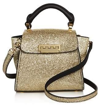 Zac Posen Eartha Iconic Mini Top Handle Glitter Leather Satchel