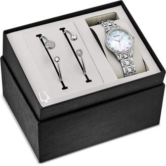 Bulova Women Stainless Steel Bracelet Watch 32mm Gift Set