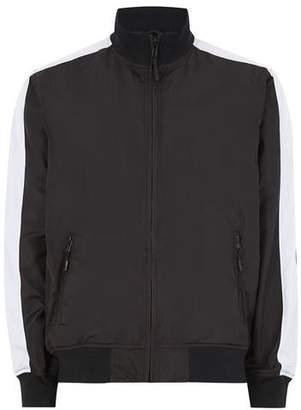 Topman Mens White Black Track Jacket