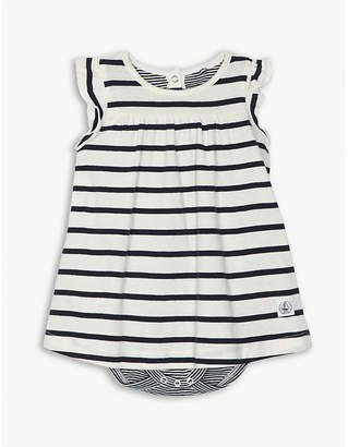 Petit Bateau Striped cotton bodysuit dress 1-12 months