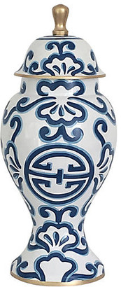 "Dana Gibson 16"" Sultan Ginger Jar - Blue/White"