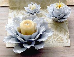 Roost Porcelain Flower Candle Holder
