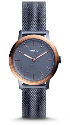 Fossil Neely Three-Hand Steel Blue Stainless Steel Watch
