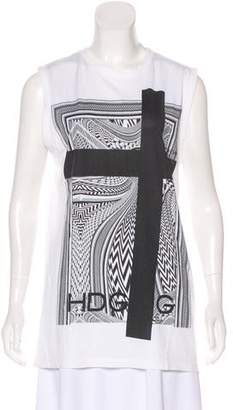 Givenchy Sleeveless Graphic Top
