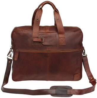 MAHI Leather - Classic Leather Holdall in Vintage Brown