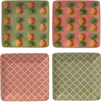 Certified International Floridian Canape Plates, Set of 4