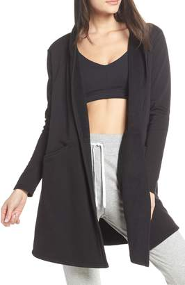 Zella Plush Lined Wrap Hooded Jacket