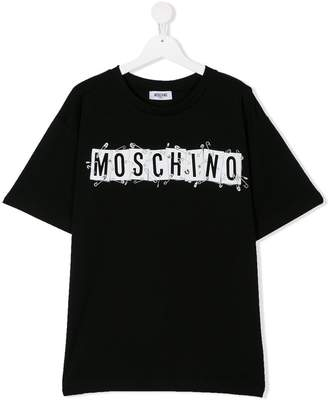 Moschino Kids TEEN logo printed T-shirt