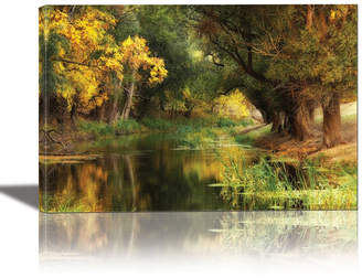 Eurographics Dressed in Autumn Framed Canvas Wall Art