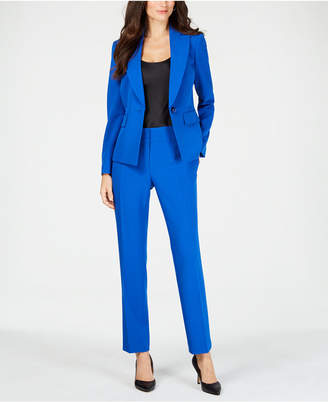 Le Suit Single-Button Notch-Collar Pantsuit