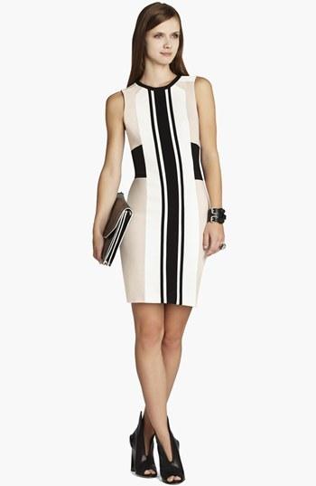BCBGMAXAZRIA Colorblock Jersey Sheath Dress