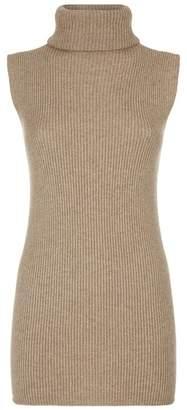 Harrods Sleeveless Roll Neck Sweater