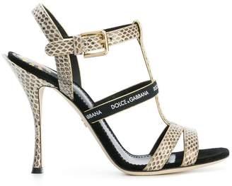 Dolce & Gabbana logo strap sandals