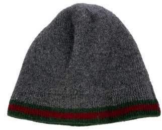 Gucci Wool Web Beanie Hat
