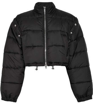 3.1 Phillip Lim Cropped Quilted Shell Jacket - Black