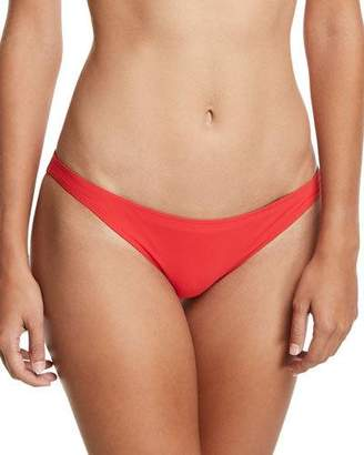 Tory Burch Solid High-Cut Hipster Bikini Swim Bottoms