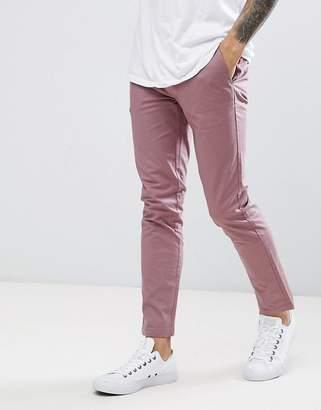 Burton Menswear Slim Fit Chinos In Dusty Pink