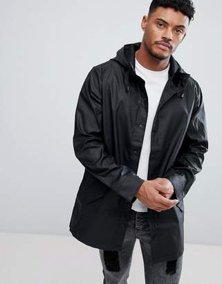 Asos DESIGN shower resistant rain coat in black