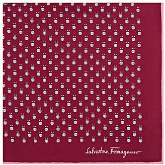 Salvatore Ferragamo Men's Insect-Motif Silk Twill Pocket Square