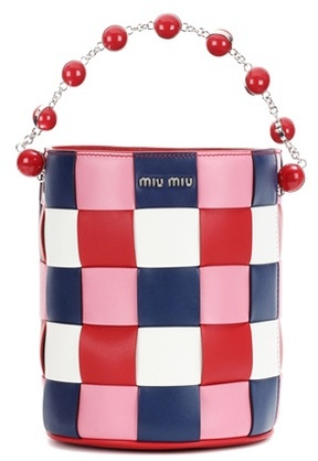 Miu MiuMiu Miu Leather Bucket Bag