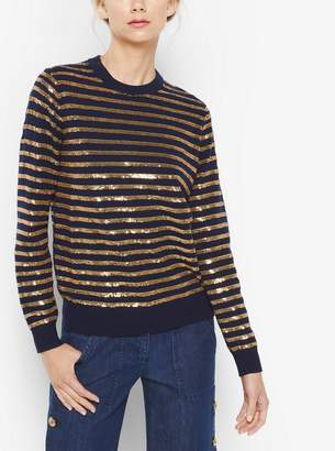 Michael Kors Collection Sequin-Embroidered Cashmere Sweater