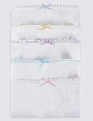 Marks and Spencer 5 Pack Pure Cotton Camisole Vests (18 Months - 16 Years)