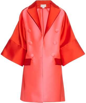Antonio Berardi Bi-colour satin evening coat