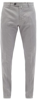 J.w.brine J.W. Brine J.w. Brine - James Cotton Chino Trousers - Mens - Dark Grey