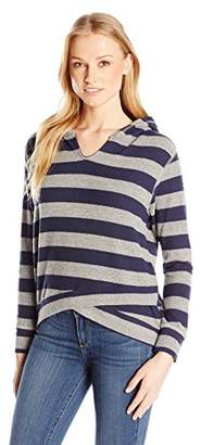 Sundry Women's Sweater Knit Pullover Hoodie