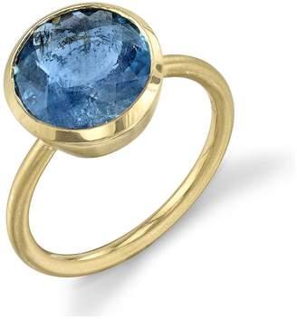Irene Neuwirth One-Of-A-Kind Aquamarine Circle Ring