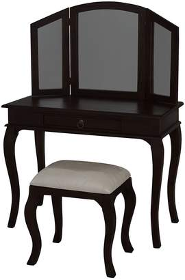 Kayu Estate Dressing Table Annalise Dressing Table Set, Chocolate